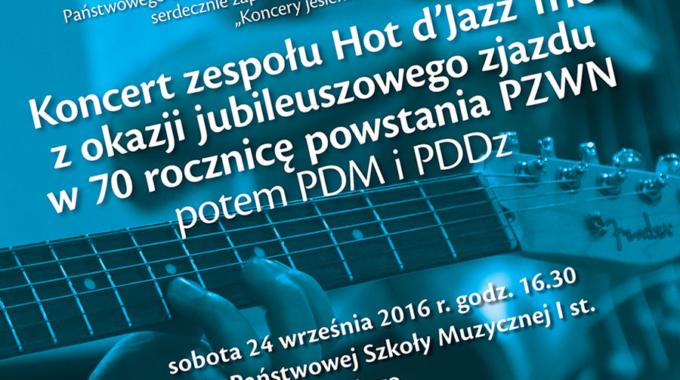 Jesienny koncert Hot d'Jazz Trio zokazji jubileuszowego zjazdu w70 rocznicę powstania PZWN