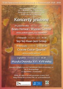 Koncerty jesienne 2017